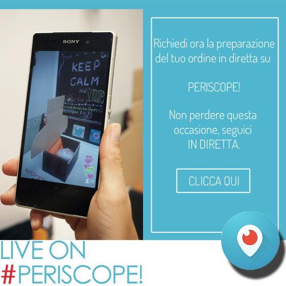 preparazione Live Periscope
