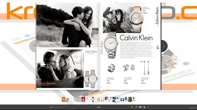 La pagina Calvin Klein della rivista di Kronoshop volume 1
